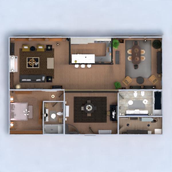 floorplans apartamento muebles decoración cuarto de baño dormitorio salón cocina despacho iluminación hogar comedor arquitectura trastero estudio descansillo 3d