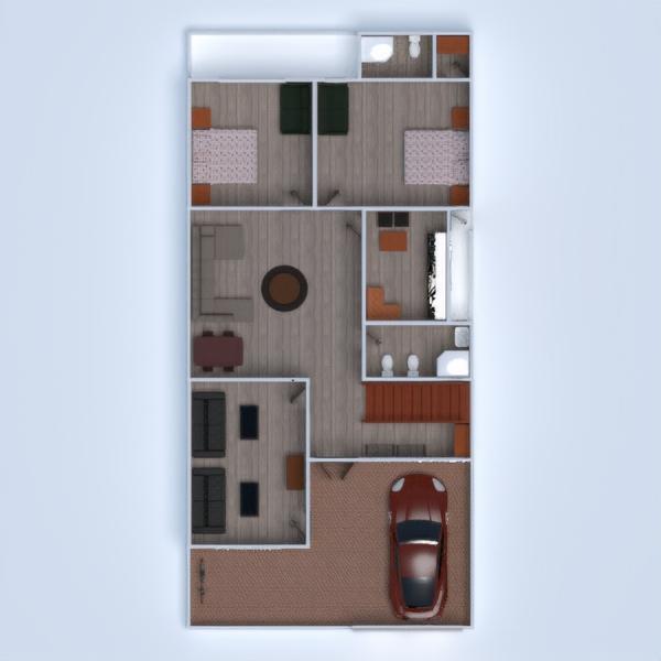 floorplans haus mobiliar wohnzimmer 3d