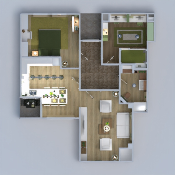 floorplans apartment house bathroom bedroom living room kitchen kids room architecture 3d