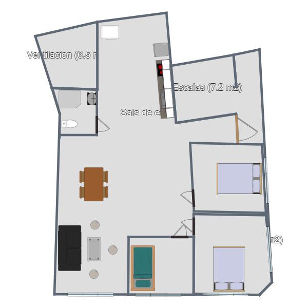 floorplans квартира прихожая 3d
