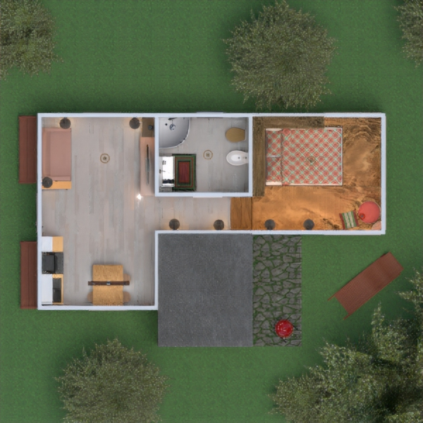floorplans haus terrasse outdoor landschaft architektur 3d