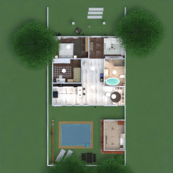 floorplans namas terasa dekoras eksterjeras apšvietimas kraštovaizdis valgomasis аrchitektūra prieškambaris 3d