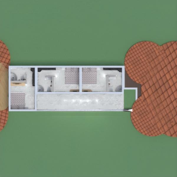 floorplans casa mobílias dormitório quarto garagem 3d