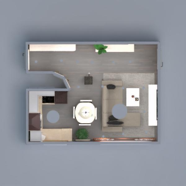 floorplans appartamento decorazioni camera da letto rinnovo monolocale 3d