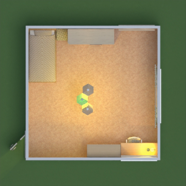 floorplans appartement chambre d'enfant 3d