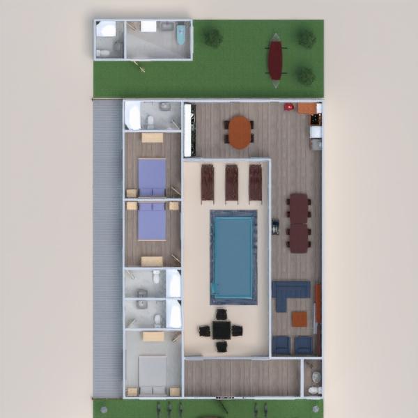 floorplans casa dormitorio cocina exterior comedor 3d