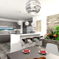floorplans butas terasa baldai dekoras vonia miegamasis svetainė virtuvė apšvietimas kraštovaizdis valgomasis 3d