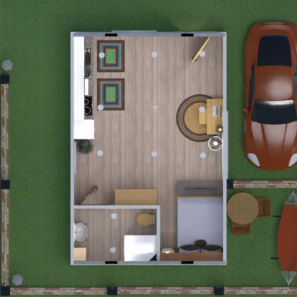 floorplans appartement diy salle de bains chambre à coucher extérieur 3d