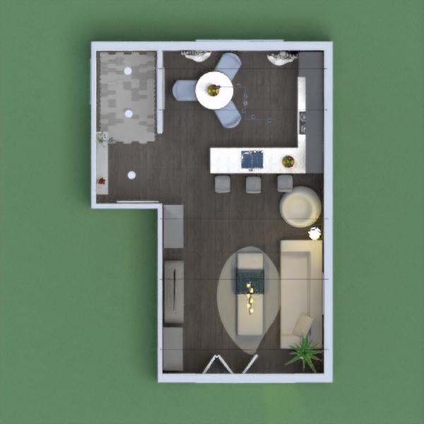 floorplans salón cocina iluminación 3d