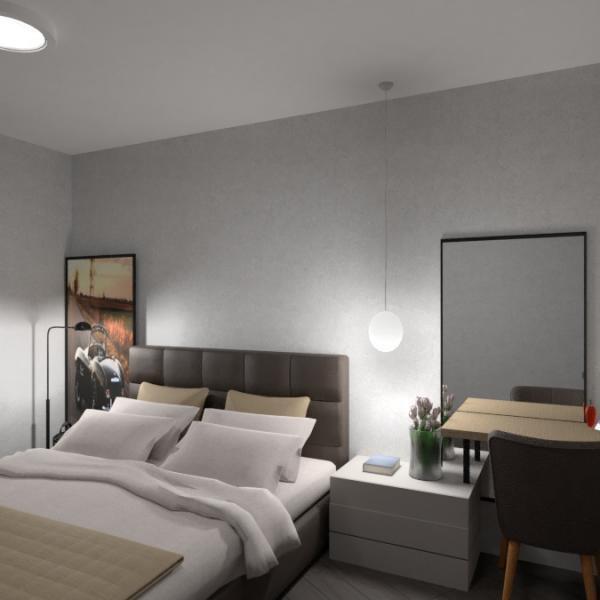 floorplans appartement meubles chambre à coucher salon cuisine 3d