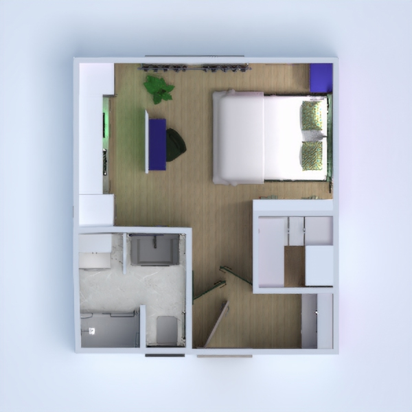 floorplans apartment bathroom studio 3d