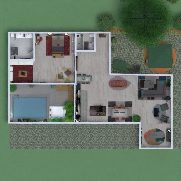 floorplans casa mobílias decoração dormitório quarto 3d