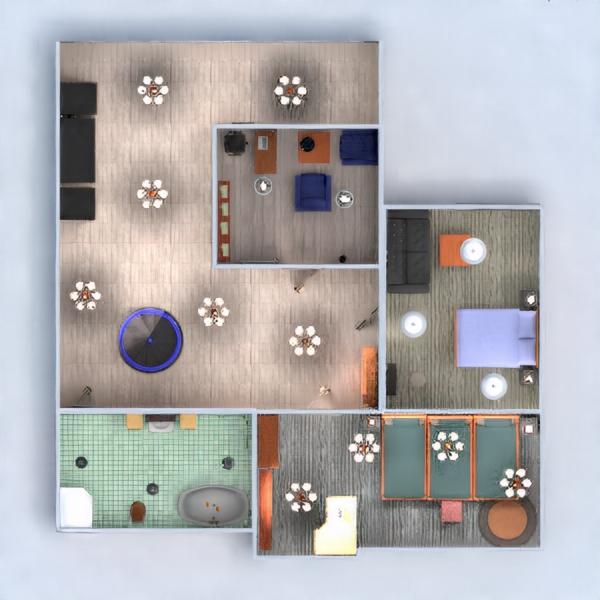 floorplans apartment house terrace furniture bedroom living room garage kitchen kids room lighting cafe dining room studio 3d