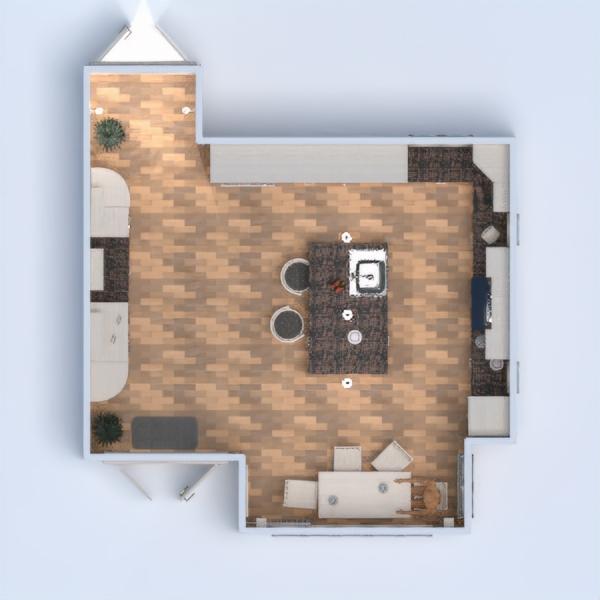 floorplans meble wystrój wnętrz kuchnia 3d