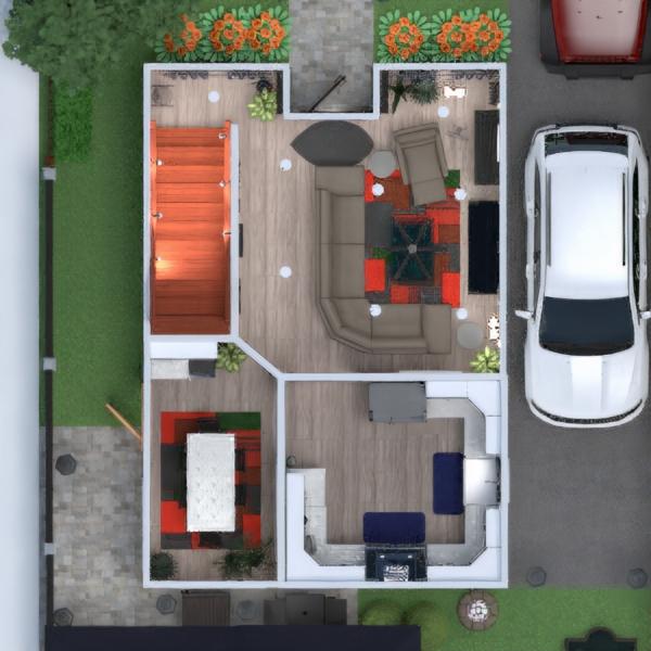 floorplans muebles decoración salón cocina comedor 3d