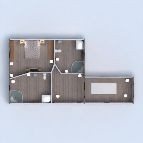 floorplans casa garagem cozinha área externa sala de jantar 3d