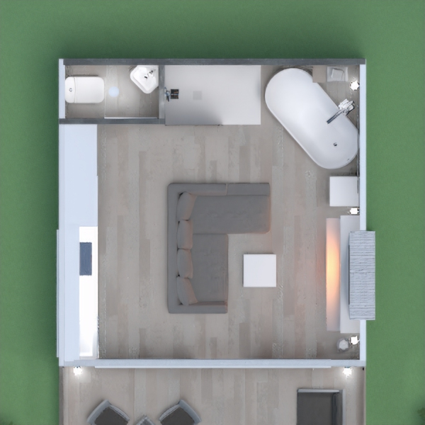 floorplans maison salon cuisine studio 3d