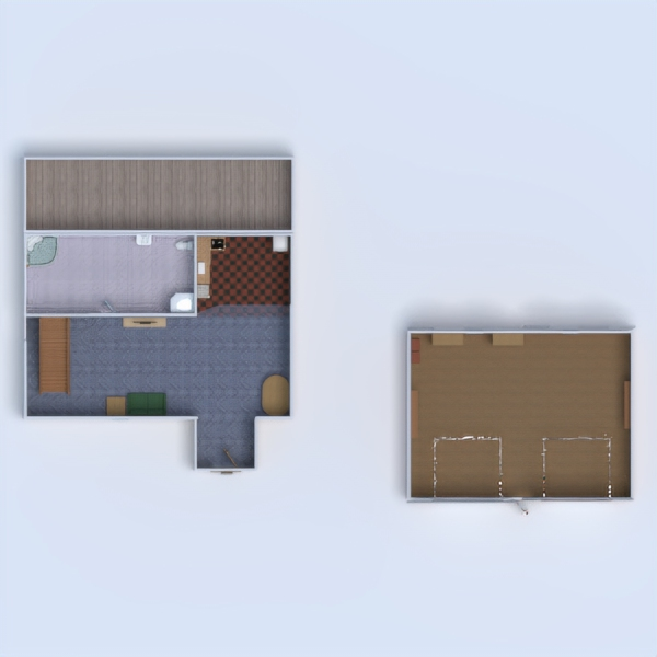 floorplans namas vonia svetainė garažas vaikų kambarys 3d