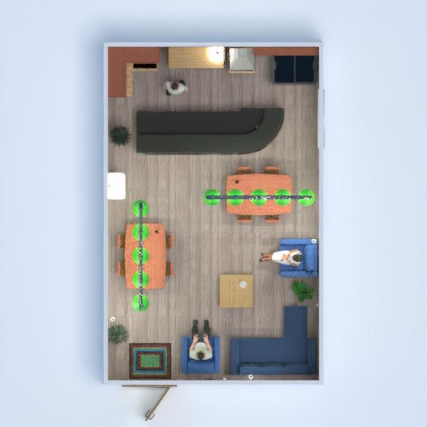 floorplans cuisine café salle à manger 3d