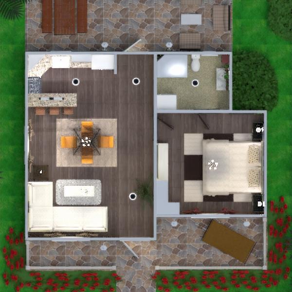 floorplans namas terasa baldai dekoras vonia miegamasis svetainė garažas virtuvė eksterjeras kraštovaizdis namų apyvoka valgomasis аrchitektūra 3d