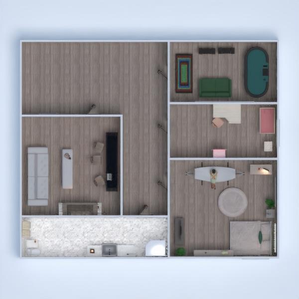 floorplans casa camera da letto saggiorno cucina studio 3d