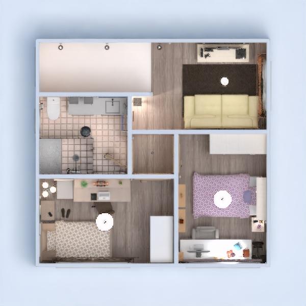 floorplans namas baldai dekoras pasidaryk pats vonia miegamasis svetainė 3d