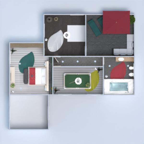планировки дом терраса мебель декор освещение 3d