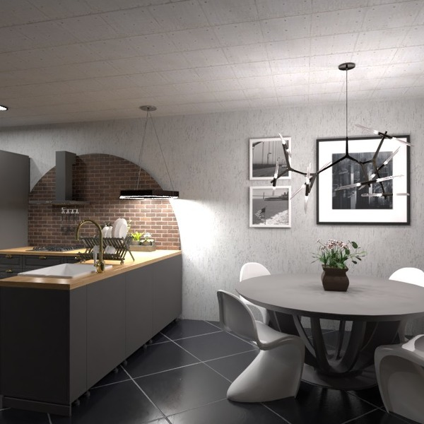 floorplans kitchen lighting 3d