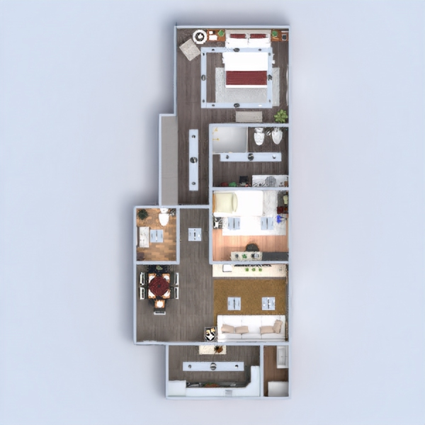 floorplans apartment furniture decor bathroom living room kitchen lighting household dining room architecture entryway 3d