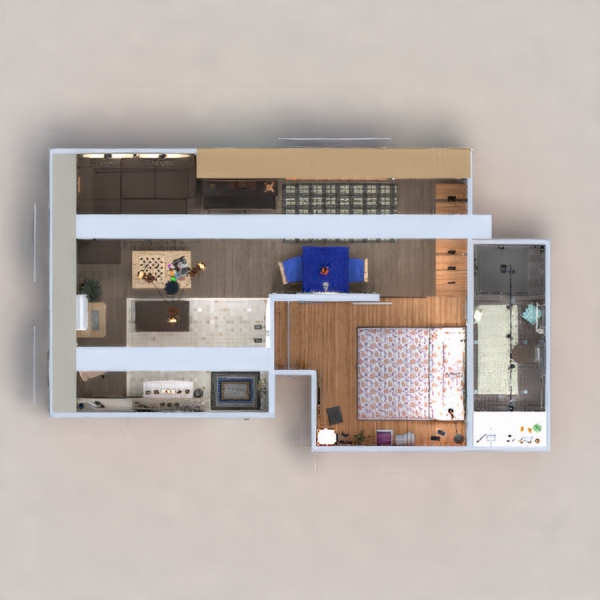 floorplans apartamento muebles decoración bricolaje cuarto de baño dormitorio salón cocina iluminación reforma hogar comedor trastero estudio descansillo 3d