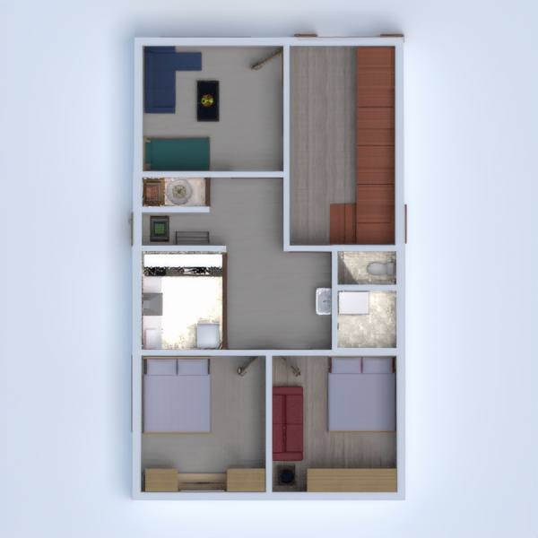 floorplans wohnung haus mobiliar dekor do-it-yourself 3d