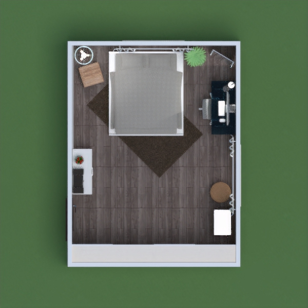 floorplans apartment furniture decor bedroom office studio 3d