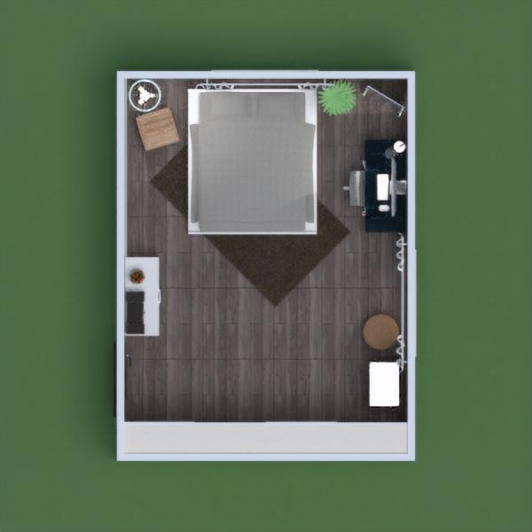 planos apartamento muebles decoración dormitorio despacho estudio 3d