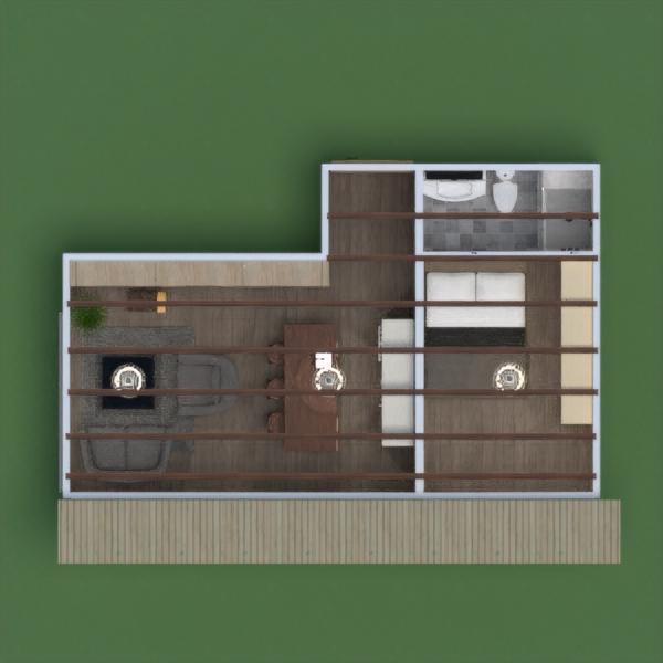 floorplans haus mobiliar dekor badezimmer schlafzimmer wohnzimmer küche outdoor esszimmer architektur lagerraum, abstellraum studio 3d