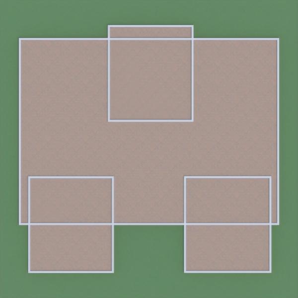 floorplans maison meubles salon cuisine extérieur 3d