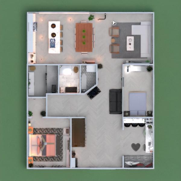 floorplans casa cuarto de baño dormitorio cocina habitación infantil 3d