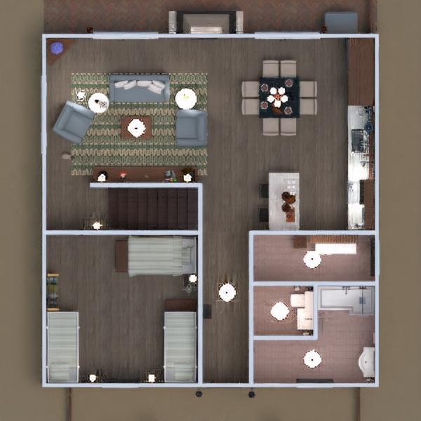 floorplans casa terraza salón cocina arquitectura 3d