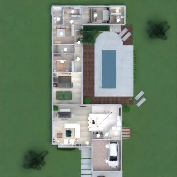 floorplans haus terrasse schlafzimmer küche outdoor beleuchtung architektur 3d