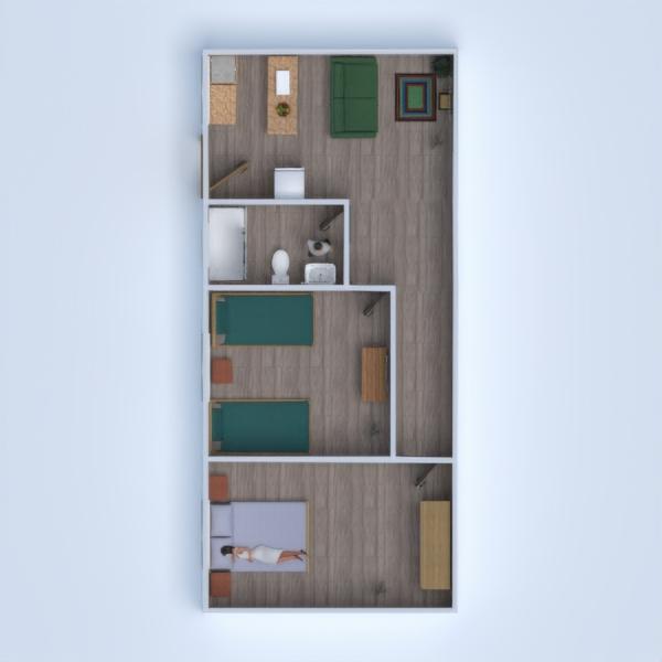 floorplans pasidaryk pats miegamasis svetainė garažas virtuvė 3d