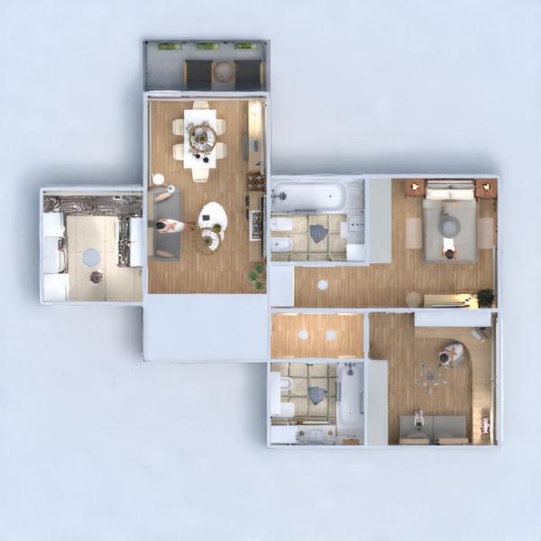 floorplans apartment furniture decor lighting 3d