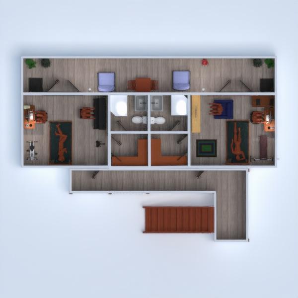 floorplans vonia miegamasis biuras 3d