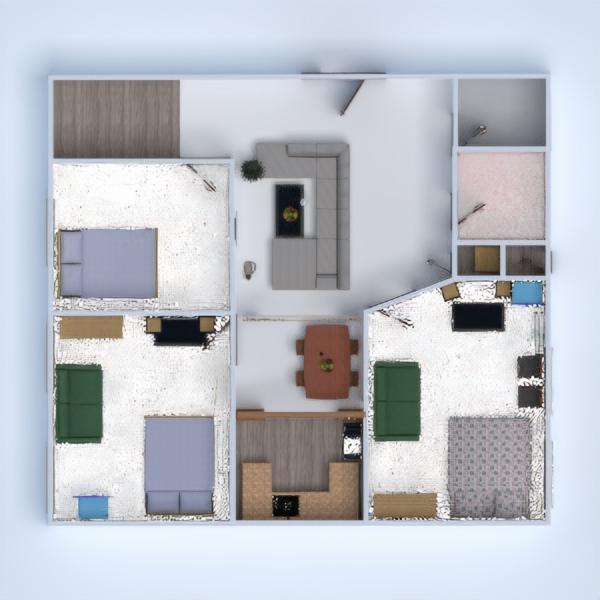floorplans dormitório quarto garagem cozinha 3d