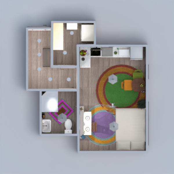 floorplans apartamento mobílias decoração faça você mesmo dormitório cozinha reforma sala de jantar estúdio patamar 3d