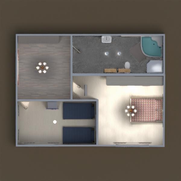 floorplans casa dormitorio habitación infantil hogar trastero 3d