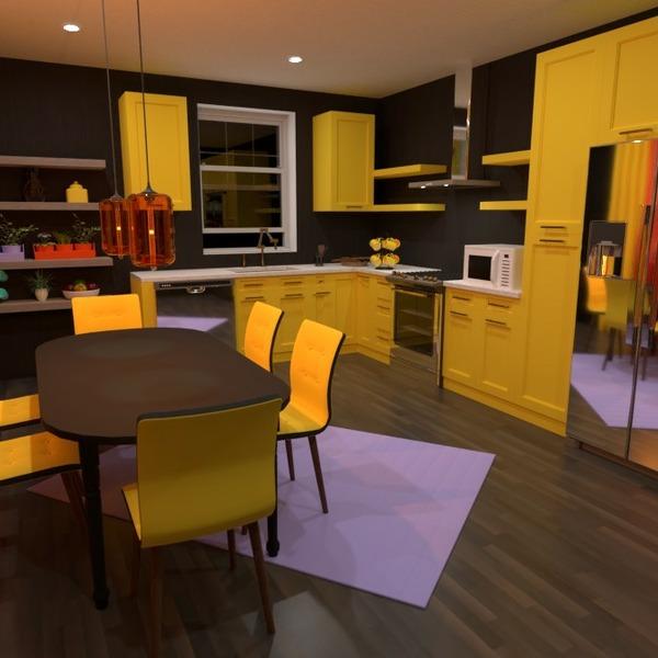 floorplans meubles décoration cuisine salle à manger 3d
