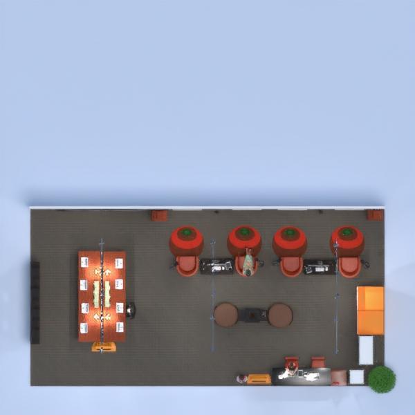 floorplans decorazioni studio monolocale 3d