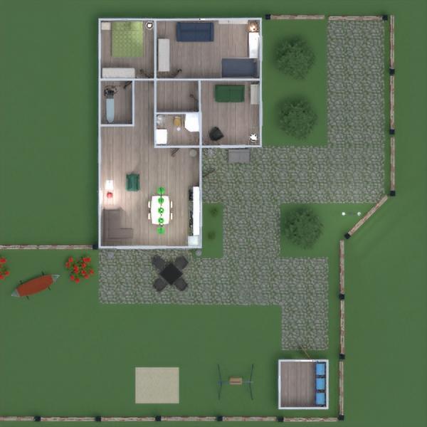 floorplans casa veranda arredamento esterno 3d