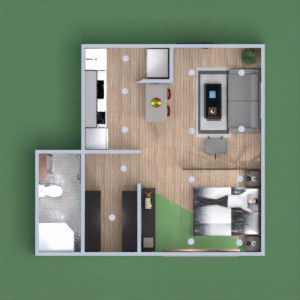 floorplans apartamento casa mobílias casa de banho cozinha 3d
