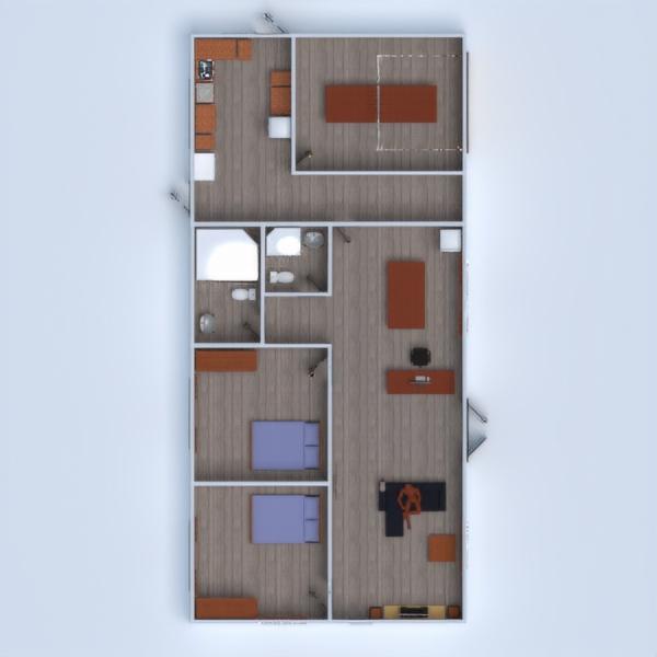 floorplans casa angolo fai-da-te camera da letto saggiorno cucina 3d
