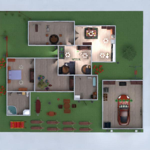 floorplans apartamento casa varanda inferior mobílias casa de banho dormitório quarto garagem cozinha área externa escritório iluminação reforma paisagismo utensílios domésticos sala de jantar despensa 3d